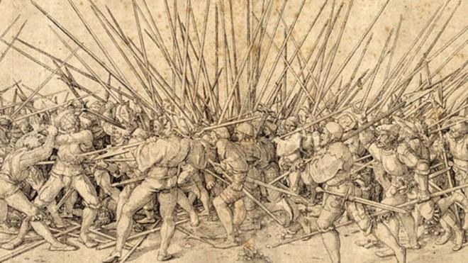 Bộ binh Thụy Sĩ nổi tiếng nhờ khả năng chiến đấu và kỷ luật cao. Ảnh: War History.