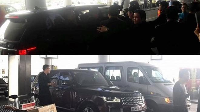Xe sang được điều động đưa đón Seungri ngay khi anh xuất hiện (ảnh trên). Ảnh: FB.