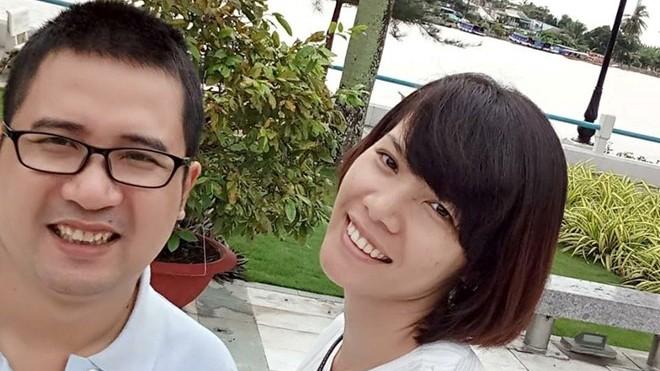 PTV Trần Viết Duy và vợ. Ảnh: FB vợ cố PTV Trần Viết Duy.