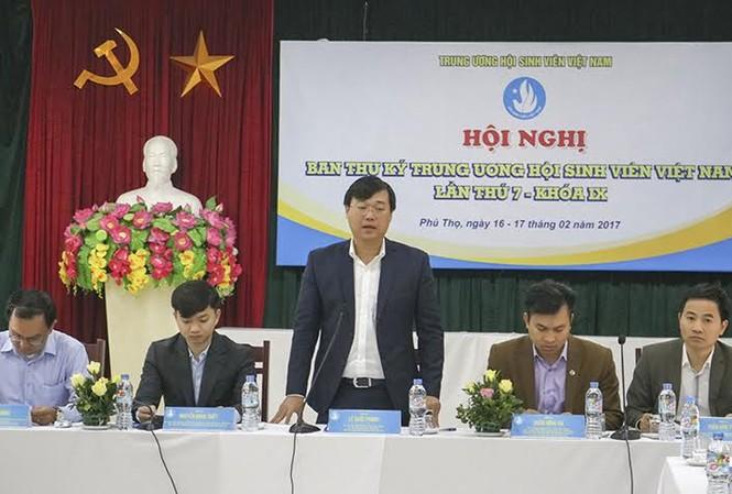 Anh Lê Quốc Phong, Bí thư thứ nhất T.Ư Đoàn, Chủ tịch Hội Sinh viên Việt Nam phát biểu chỉ đạo tại Hội nghị.
