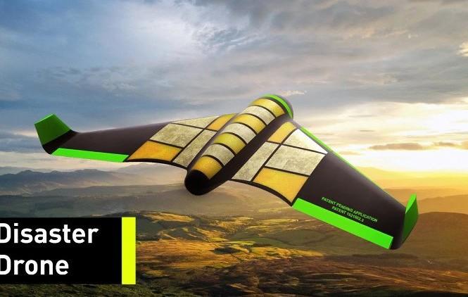 UAV Pouncer được làm từ vật liệu nhựa dẻo chế từ tinh bột có thể ăn được.