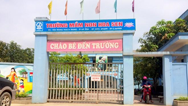 Trường mầm non Hoa Sen, nơi cô Thảo đang công tác. Ảnh: Đức Hùng