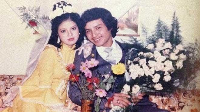 Chí Trung, Ngọc Huyền trong ngày cưới