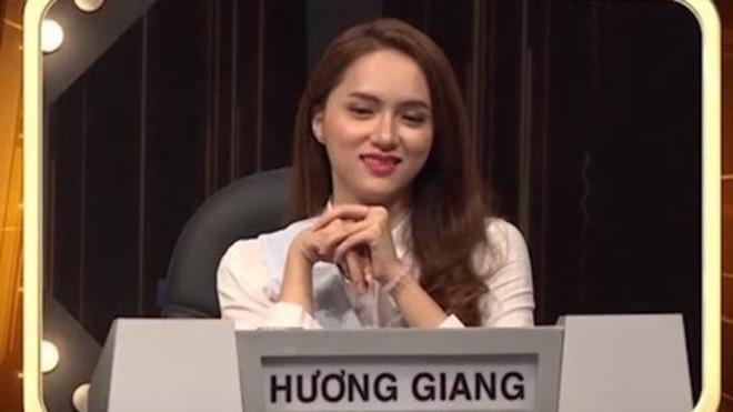 Hương Giang Idol trong Siêu sao đoán chữ. Ảnh: TL