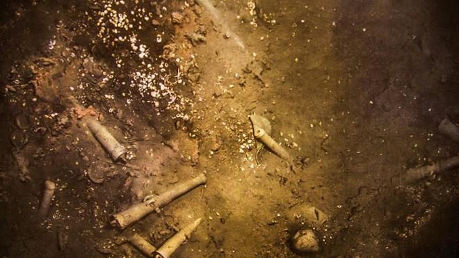 Hình ảnh từ con tàu San Jose đắm dưới biển ở ngoài khơi Colombia.