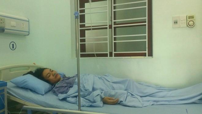 Hình ảnh cô giáo H. ở Hải Phòng bị phụ huynh đánh phải nhập viện. Ảnh I.T