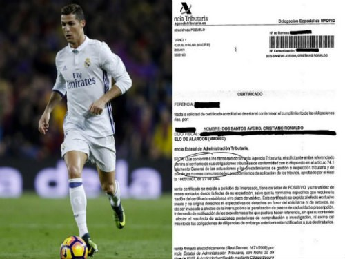 Thông báo của Gestifute về vụ trốn thuế của Ronaldo.