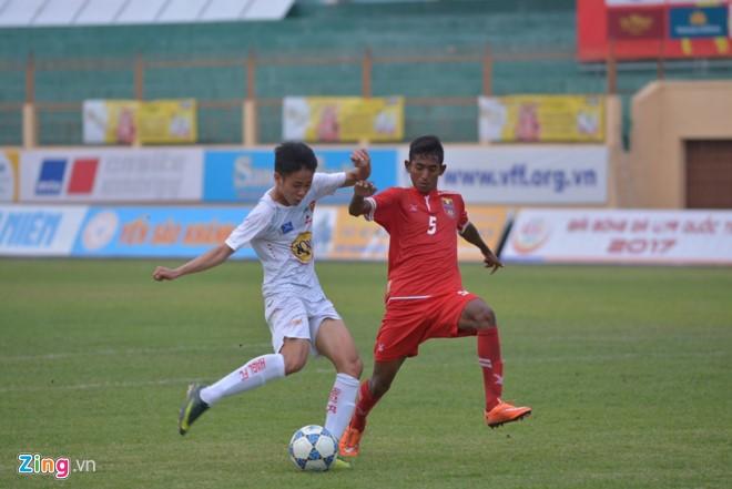U19 HAGL thảm bại trước U19 Myanmar.