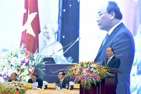 Thủ tướng Nguyễn Xuân Phúc đánh giá cao vai trò của Hiệp hội DNNVV. Ảnh CP