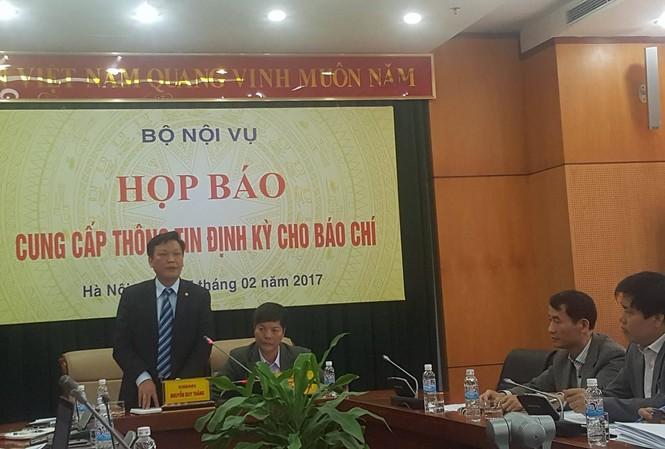 Bộ Nội vụ tổ chức họp báo định kỳ
