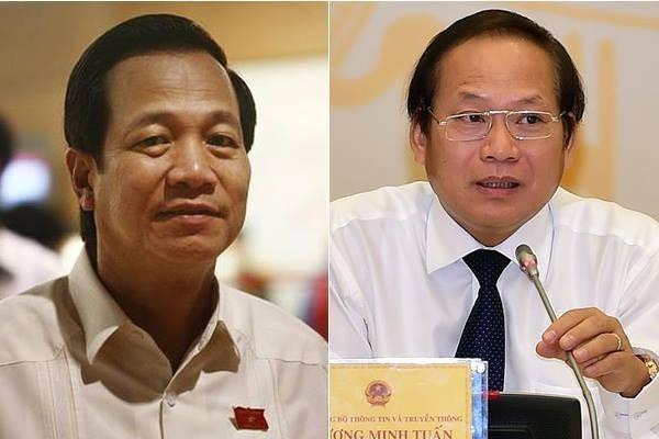 ĐBQH chất vấn hai Bộ trưởng Đào Ngọc Dung và Trương Minh Tuấn