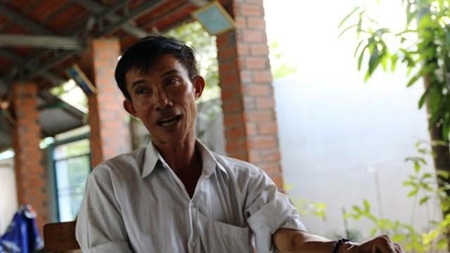 Ông Nguyễn Văn Bỉ - người từng bị khởi tố vì xây chòi vịt.