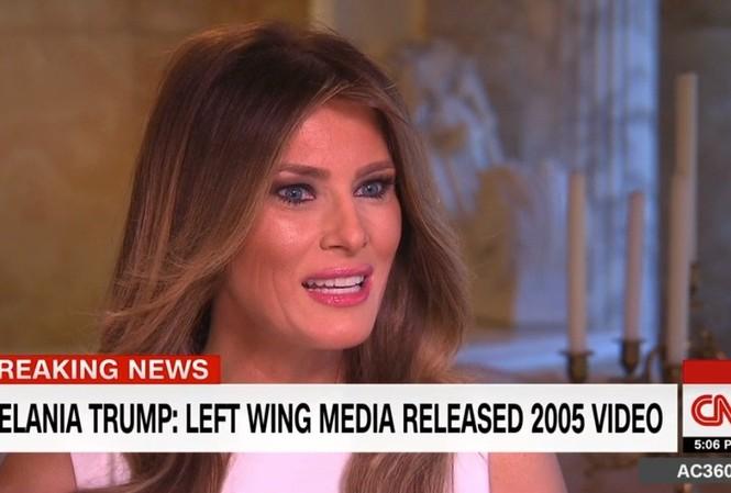 Melania Trump trả lời phỏng vấn trên CNN.