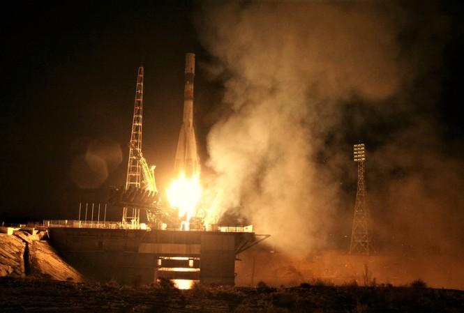 Tàu Progress M-04 khi được phóng lên vũ trụ. Ảnh: Roscosmos