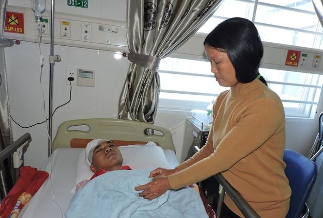 Nạn nhân Dương được cứu sống ở Bệnh viện Thiện Hạnh
