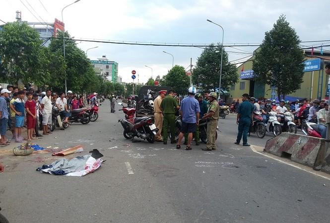 Hiện trường vụ tai nạn.