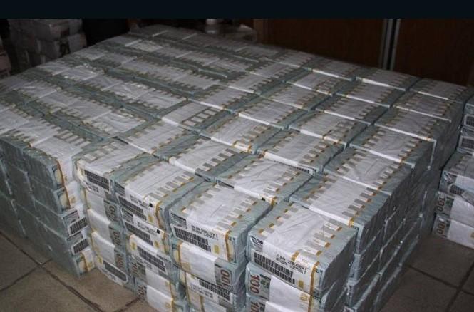 Số tiền cảnh sát phát hiện trong căn hộ ở Lagos (Nigeria).