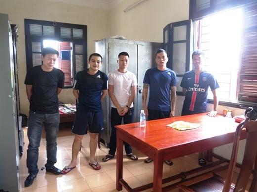 Bước đầu Công an TP Hà Tĩnh bắt giam 5 đối tượng liên quan.