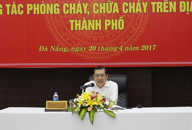 Chủ tịch UBND thành phố Đà Nẵng Huỳnh Đức Thơ. Ảnh: Giang Thanh.