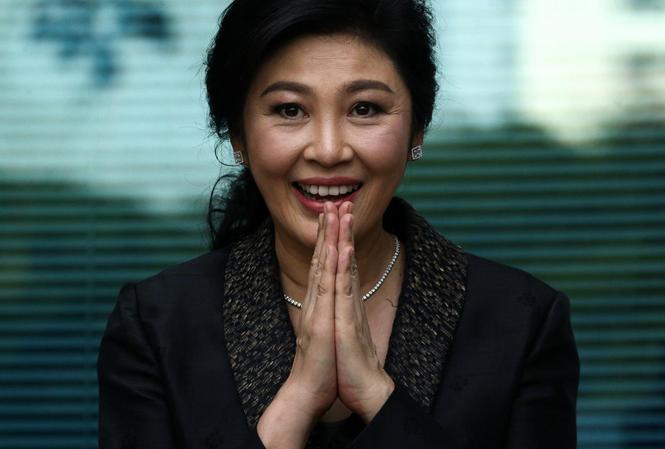 Cựu Thủ tướng Yingluck Shinawatra xuất hiện trước tòa án Tối cao Thái Lan vào ngày 1/8. Ảnh: Reuters