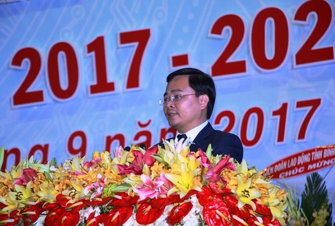 Bí thư T.Ư Đoàn Nguyễn Anh Tuấn phát biểu tại đại hội