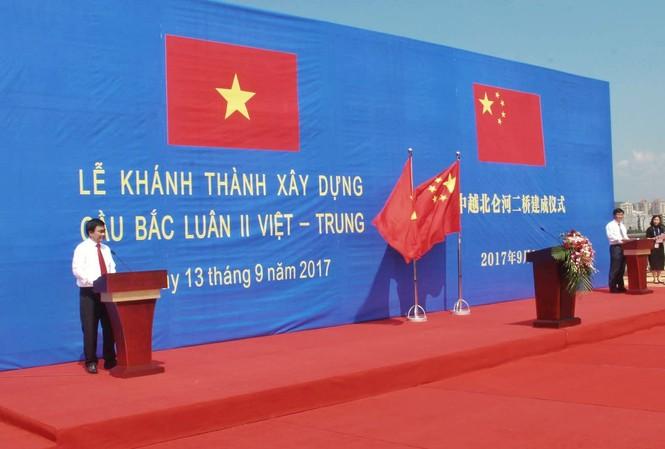 Lễ khánh thành xây dựng cầu Bắc Luân II Việt - Trung.