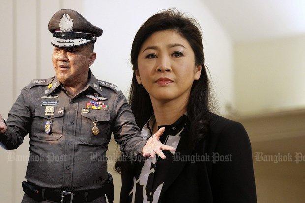 Cảnh sát trưởng quốc gia Thái Lan – ông Srivara Ransibrahmanakul cho rằng bà Yingluck đã đổi xe trên đường trốn chạy. Ảnh: Bangkok Post