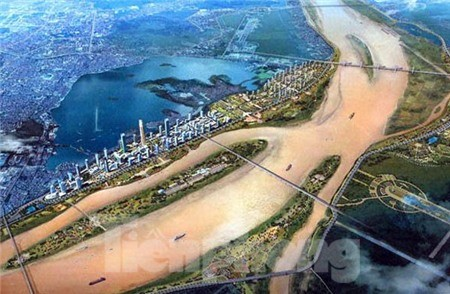 Phối cảnh dự án thành phố ven sông Hồng - Ảnh: Minh họa