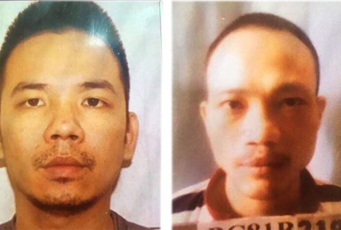 Chân dung 2 tử tù trốn trại biệt giam T16 Bộ Công an ngày 11/9.