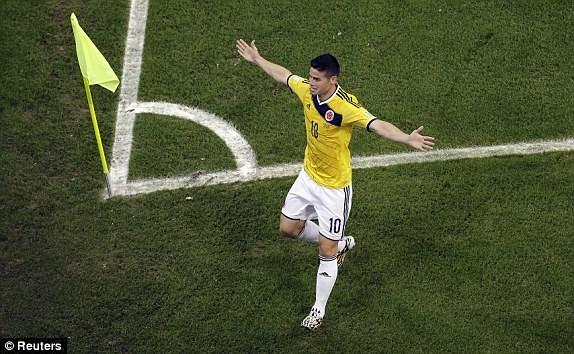 Bàn thắng đẹp nhất World Cup vinh danh James Rodriguez