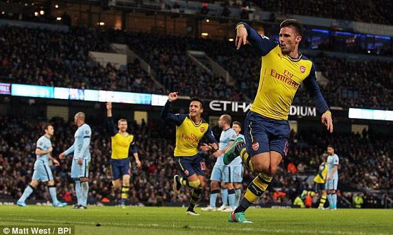 Giroud là tác giả bàn thắng thứ 2 cho Arsenal ở trận này.