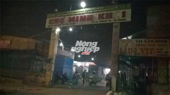 Chợ đầu mối nông sản thực phẩm Minh Khai. Ảnh: NNVN.