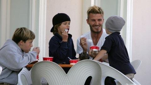 David Beckham luôn tuân thủ chế độ ăn mà mình đã đặt ra.