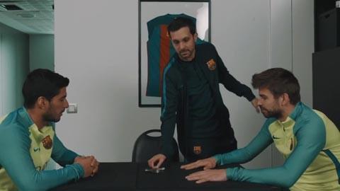 """""""Ảo thuật gia"""" Dynamo cho các cầu thủ Barca thử nghiệm bẻ đinh"""