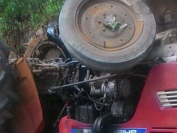 Hiện trường vụ tai nạn khiến nạn nhân tử vong tại chỗ