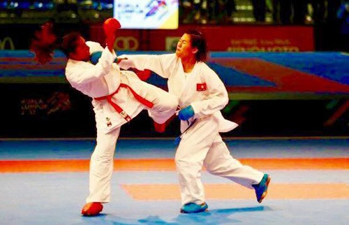 Image result for Jumaa Haya vs nguyen thi ngoan karate