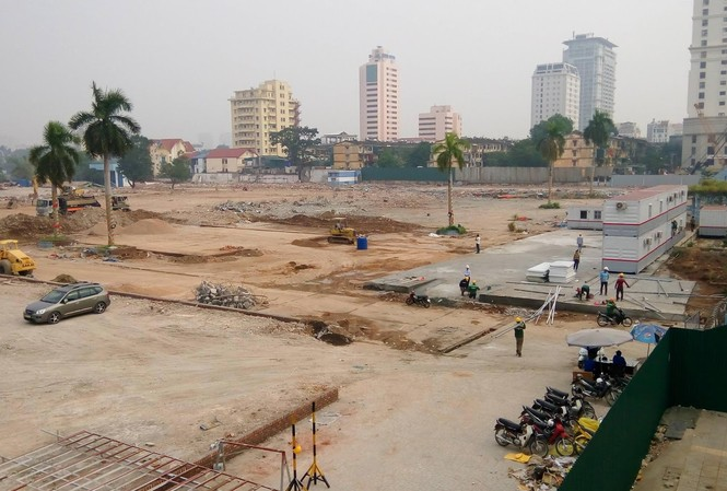 Khu đất 148 Giảng Võ được nhà đầu tư chuẩn bị mặt bằng để thực hiện dự án chung cư cao cấp