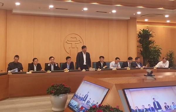 Lãnh đạo Hà Nội phát biểu tại cuộc họp