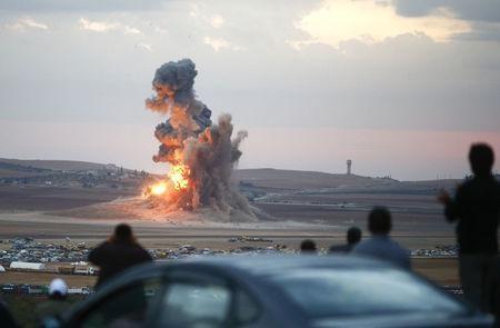 Mỹ không kích thị trấn Kobani ở Syria