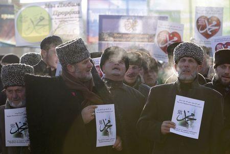 Người biểu tình ở Chechnya