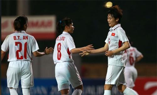Tuyển nữ Việt Nam ngược dòng thắng Iran 6-1. Ảnh: Vnexpress