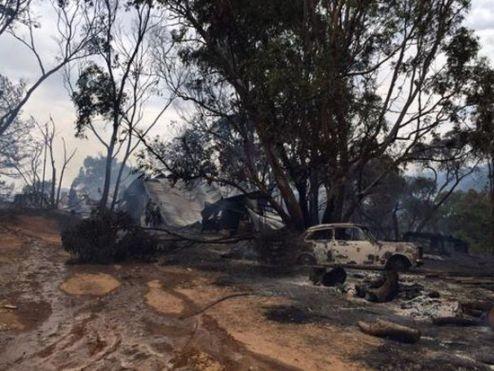 Hình ảnh một khu vực bị ảnh hưởng do cháy rừng lan rộng (Ảnh: The Star)