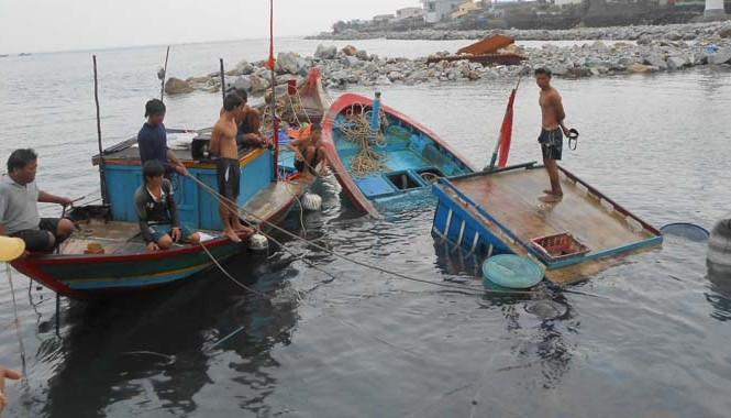 Thời gian vừa qua nhiều tàu cá của Ngư dân Lý Sơn bị nạn do thời tiết.
