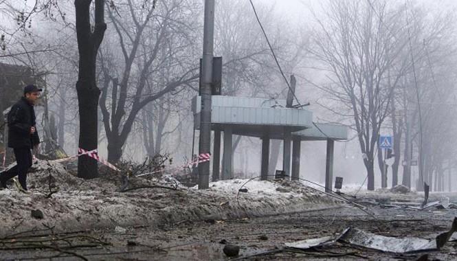 Bạo lực liên tiếp nổ ra tại Donetsk gây nhiều thương vong Ảnh: Tass