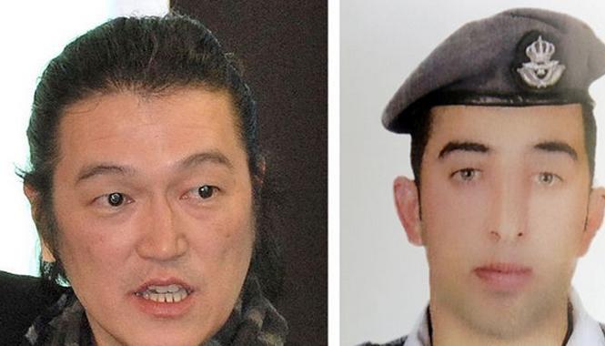Nhà báo Kenji Goto và phi công Jordan. Ảnh: Channel News Asia