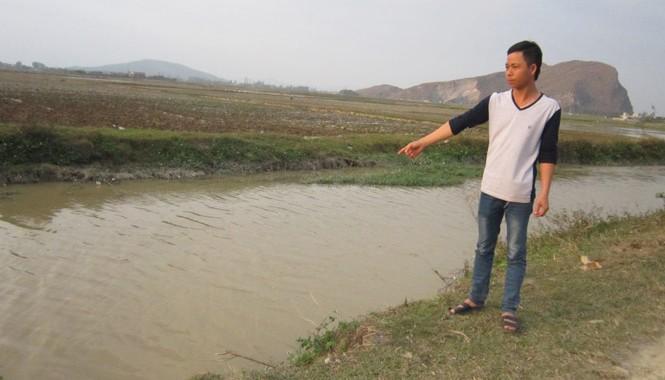 Nơi tìm thấy thi thể của Lê Đình Huân. Anh: Phạm Nhài