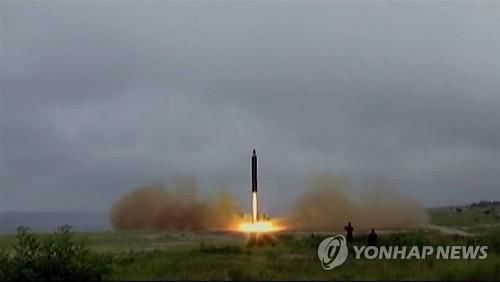 Một vụ thử tên lửa Musudan của Triều Tiên diễn ra năm ngoái.