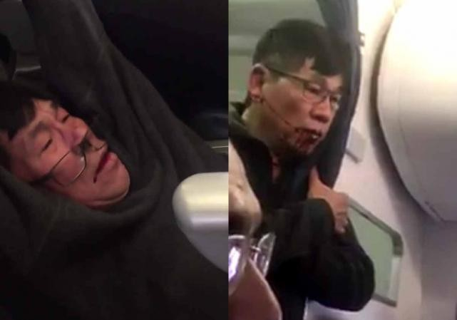 Hình ảnh hành khách người Mỹ gốc Việt David Dao bị nhân viên an ninh lôi kéo thô bạo ra khỏi máy bay đang khiến cộng đồng mạng bức xúc.