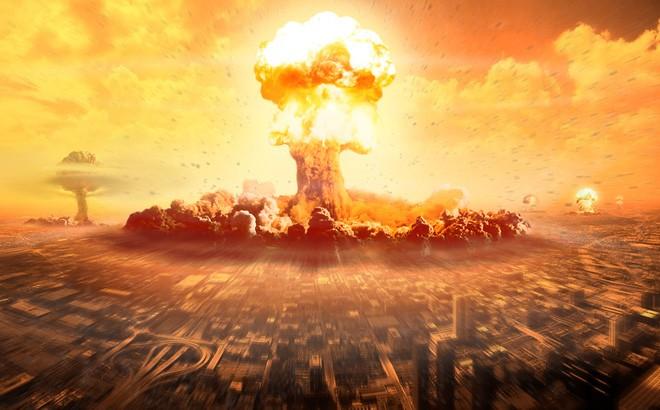 Hình ảnh mô phỏng một vụ tấn công hạt nhân.