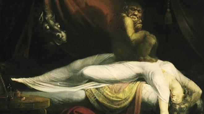 Những hình ảnh quái dị thường xuất hiện khi bị bóng đè. Ảnh: Henry Fuseli